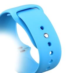 Ремешок спортивный для Apple Watch 42/ 44мм COTEetCI W3 Sport Band (Голубой)