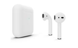 Беспроводная гарнитура Apple AirPods 2 Color беспроводная зарядка чехла (Серебристый матовый)