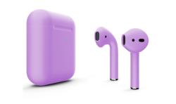 Беспроводная гарнитура Apple AirPods 2 Color беспроводная зарядка чехла (Ультрофиолетовый матовый)