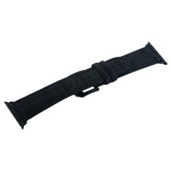 Ремешок кожаный для Apple Watch 42/ 44мм COTEetCI W37 (Черный)