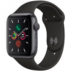 Умные часы Apple Watch S5 44mm Space Grey Aluminium Case with Black Sport Band (MWVF2)