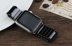 Ремешок из керамики для Apple Watch 38/ 40мм (Черный)