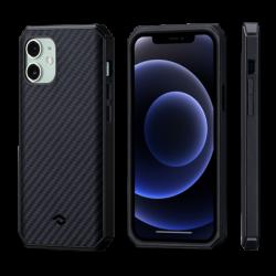 Чехол для iPhone 12 mini Pitaka MagEZ Case Pro 2 (Черно-серый)
