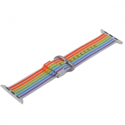 Ремешок из плетёного нейлона для Apple Watch 38/ 40мм COTEetCI W30 Nylon Rainbow Band (Красно-Синий)