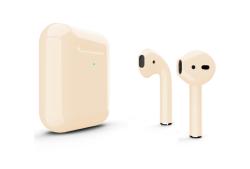 Беспроводная гарнитура Apple AirPods 2 Color беспроводная зарядка чехла (Бежевый глянцевый)