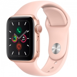 Умные часы Apple Watch S5 40mm Gold Aluminium Case with Pink Sport Band (MWV72)