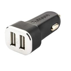 Автомобильное зарядное устройство Deppa D-11287 12/24V (2USB: 5V/4.8A) Черный