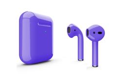 Беспроводная гарнитура Apple AirPods 2 Color беспроводная зарядка чехла (Фиолетовый глянцевый)