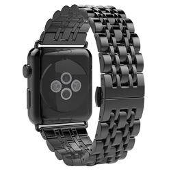 Ремешок из нержавеющей стали для Apple Watch 42/ 44мм Metal (Черный)