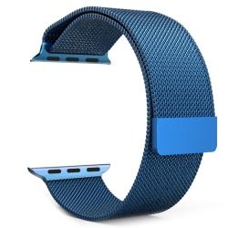Ремешок из нержавеющей стали для Apple Watch 38/ 40мм Миланская петля (Синий)
