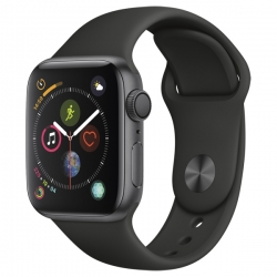 Умные часы Apple Watch S4 GPS 44mm Space Gray Aluminum Case with Black Sport Band