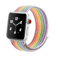Ремешок для Apple Watch 42/ 44мм W17 Magic Tape Band (Pride Stripe)