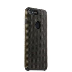 Чехол-накладка для iPhone 7 Plus/ 8 Plus COTEetCI Vogue Silicone Case (Черный/ Оранжевый)