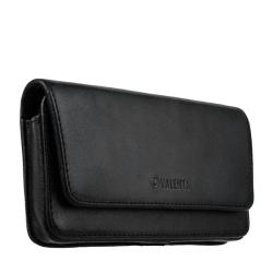 Чехол-кобура кожаный Valenta двойное крепление (150x80x14mm 5.0-5.4) Черный