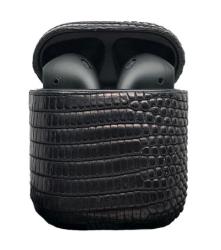 Беспроводная гарнитура Apple AirPods 2 IGUANA MAX беспроводная зарядка чехла (Черный)