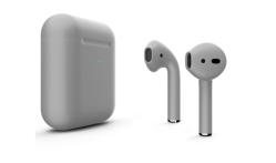 Беспроводная гарнитура Apple AirPods 2 Color беспроводная зарядка чехла (Серый матовый)