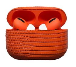 Беспроводная гарнитура Apple AirPods Pro IGUANA MAX (Оранжевый)