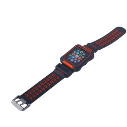 Ремешок спортивный для Apple Watch 42mm COTEetCI W31 (Черно-Красный)