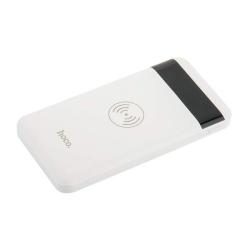 Внешний аккумулятор & беспроводное зарядное устройство Hoco J11-10000 mAh (2USB: 5V-2.1A&5V-1.0A) Белый
