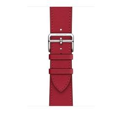 Ремешок для Apple Watch 38/ 40мм Hermès Rouge Piment Swift Leather Single Tour