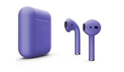 Беспроводная гарнитура Apple AirPods 2 Color беспроводная зарядка чехла (Фиолетовый матовый)