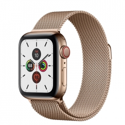 Умные часы Apple Watch S5 GPS + Cellular 40mm Stainless Steel Case with Milanese Loop Gold