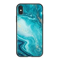 Чехол-накладка для iPhone XS Max Deppa Glass Case (Голубой)