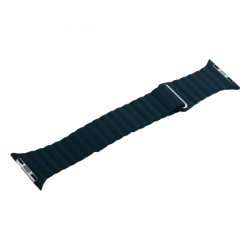 Ремешок кожаный для Apple Watch 42/ 44мм Рифленый (Зеленый)