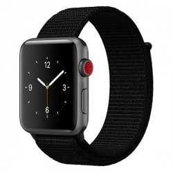 Ремешок для Apple Watch 42/ 44мм W17 Magic Tape Band (Dark Black)