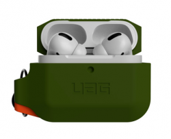 Чехол для AirPods Pro UAG Silicone Case (Olive Drab/Orange)