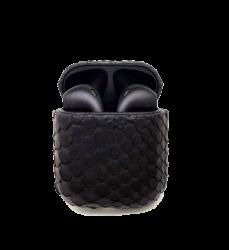 Беспроводная гарнитура Apple AirPods 2 PITON MAX беспроводная зарядка чехла (Черный)
