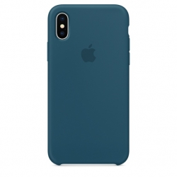 Силиконовый чехол для iPhone X/ XS (Космический синий)