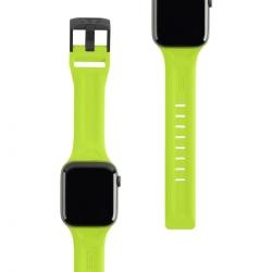 Ремешок силиконовый для Apple Watch 42/ 44мм UAG Scout (Желто-зеленый)