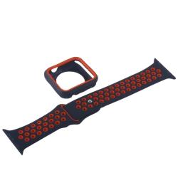 Ремешок спортивный для Apple Watch 42mm COTEetCI W32 (Черно-Красный)