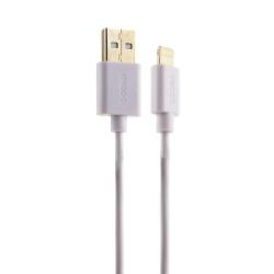 USB дата-кабель Deppa витой 8-pin Lightning 1.5м (Белый)