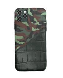 Чехол-накладка кожаная для iPhone 11 Pro No Logo Аллигатор (Камуфляж)