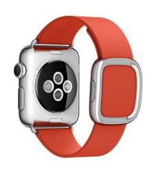 Ремешок кожаный для Apple Watch 40/ 44мм Modern Buckle (Red)