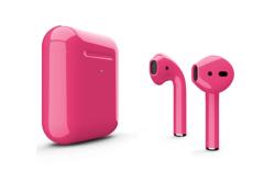 Беспроводная гарнитура Apple AirPods 2 Color беспроводная зарядка чехла (Розовый глянцевый)