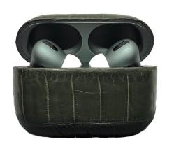 Беспроводная гарнитура Apple AirPods Pro ALLIGATOR MAX (Темно-зеленый)