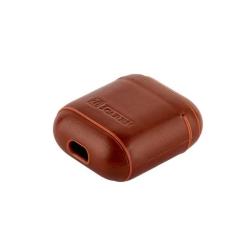 Чехол кожаный для AirPods 1/ 2 I-Carer Vintage Leather Protective Case (Коричневый)