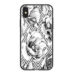 Чехол-накладка для iPhone XS/ X Deppa Glass Case (Белый)