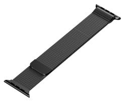 Ремешок из нержавеющей стали для Apple Watch 38/ 40мм Миланская петля (Черный)