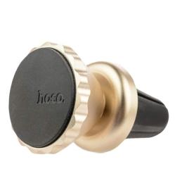 Автомобильный держатель магнитный Hoco CA19 в решетку (Золотой)