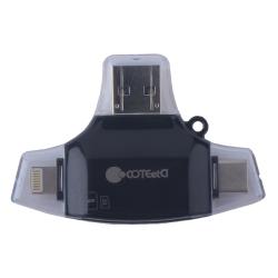 Кардридер COTEetCI 4в1 Card reader CS5132 (Черный)