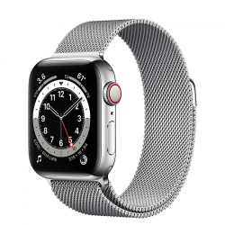 Часы Apple Watch Series 6 GPS + Cellular 40mm Silver Stainless Steel Case with Milanese Loop