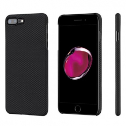 Кевларовый Чехол Pitaka для Apple IPhone 8 Plus в шашку (Черно-Серый)