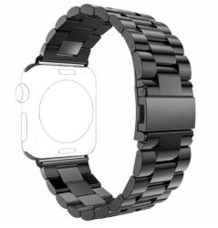 Ремешок из нержавеющей стали для Apple Watch 42/ 44мм Classic (Черный)