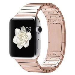 Ремешок из нержавеющей стали для Apple Watch 42/ 44мм Link Bracelet (Розовое золото)