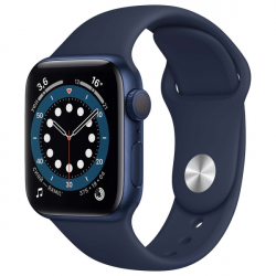 Часы Apple Watch Series 6 44mm Blue Aluminum Case with Deep Navy Sport Band