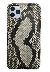 Чехол-накладка кожаная для iPhone 11 Pro Max No Logo Питон (Черно-серый)